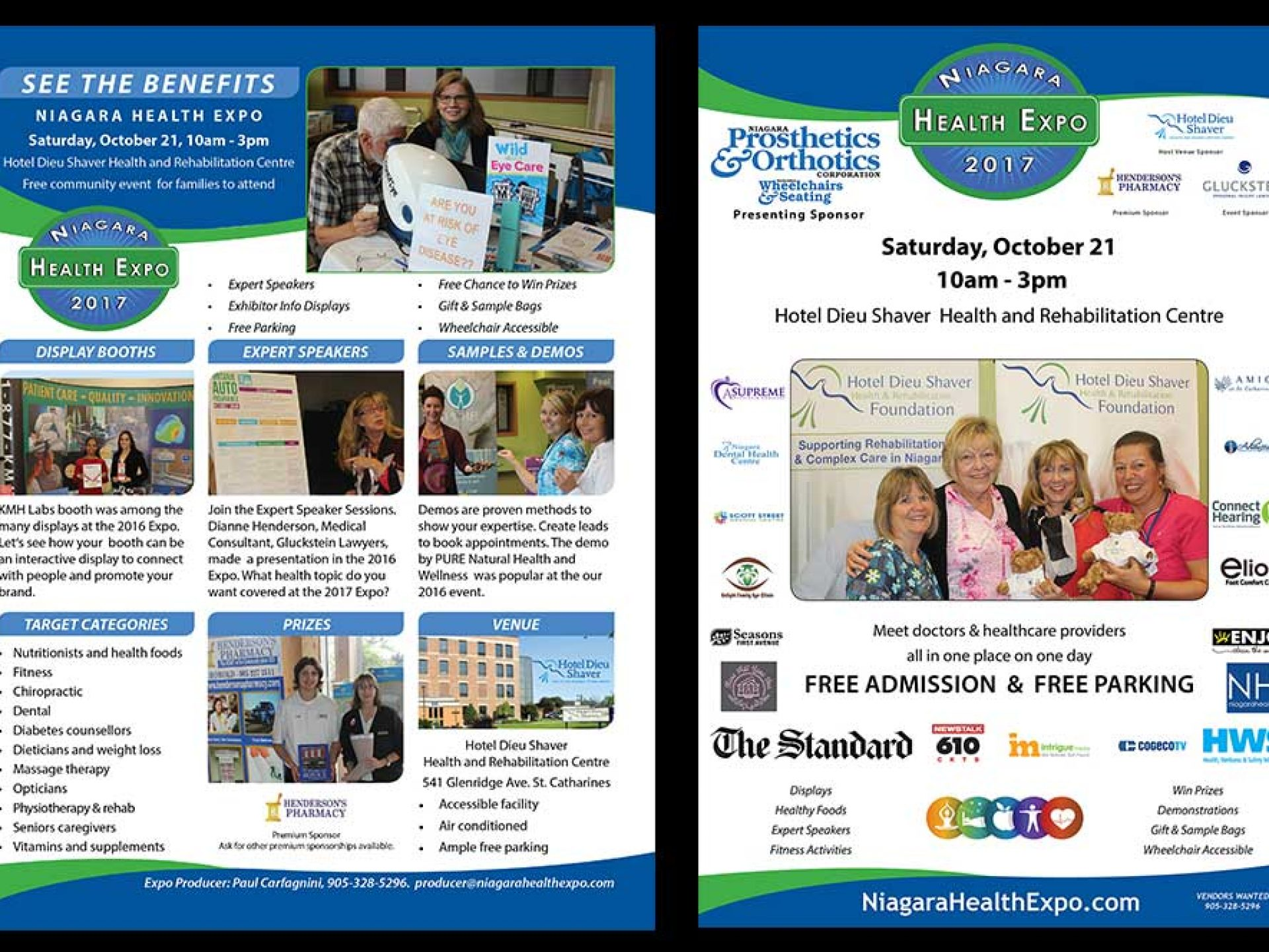 Niagara Health Expo - event sales flyer - 2 sided