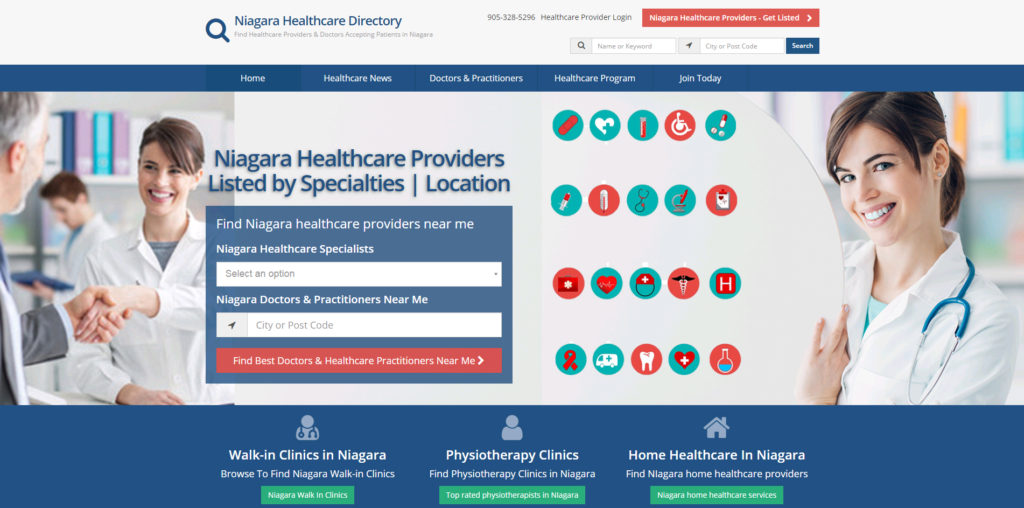 niagara healthcare directory website