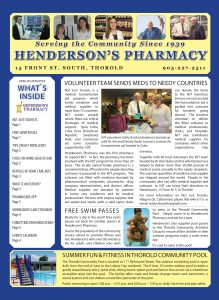 Henderson's Pharmacy newsletter